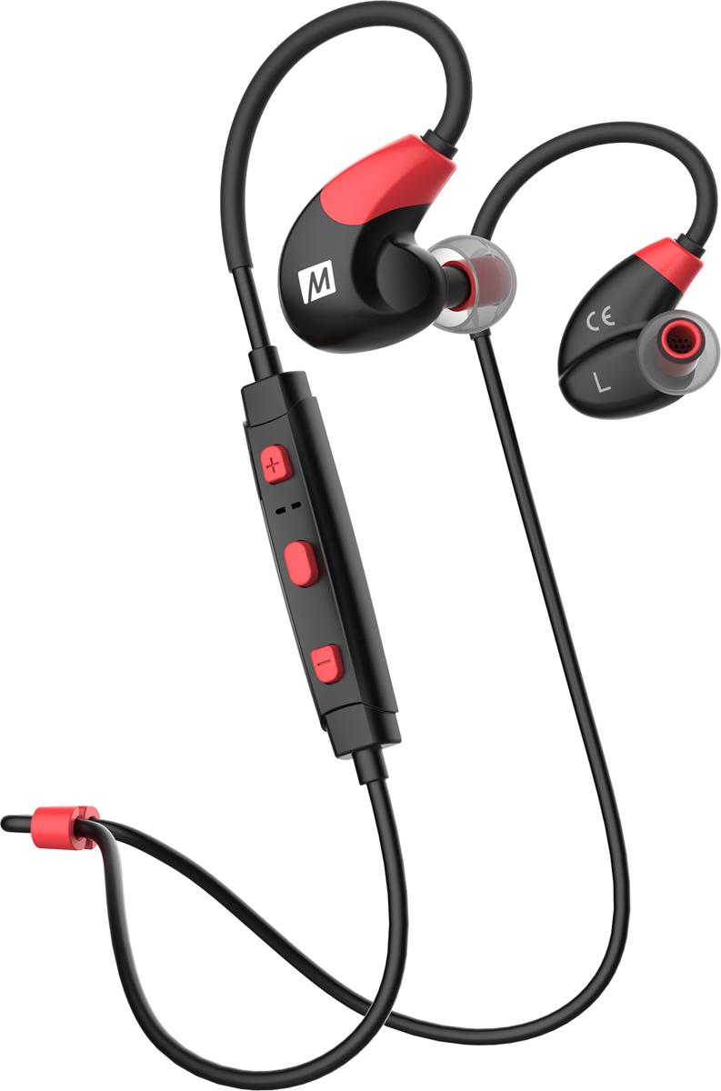 Беспроводные наушники MEE audio X7, красный, черный беспроводная гарнитура наушники x7 rdbk для активного образа жизни