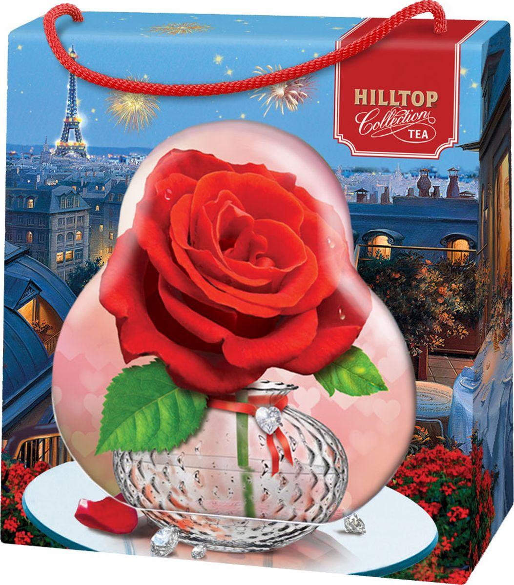 Hilltop Роза чай листовой королевское золото, 50 г hilltop утреннее чаепитие черный листовой чай королевское золото в футляре 80 г