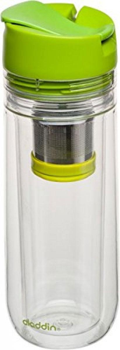Бутылка для заваривания Aladdin, цвет: зеленый, 350 мл термос с ситечком aladdin tea