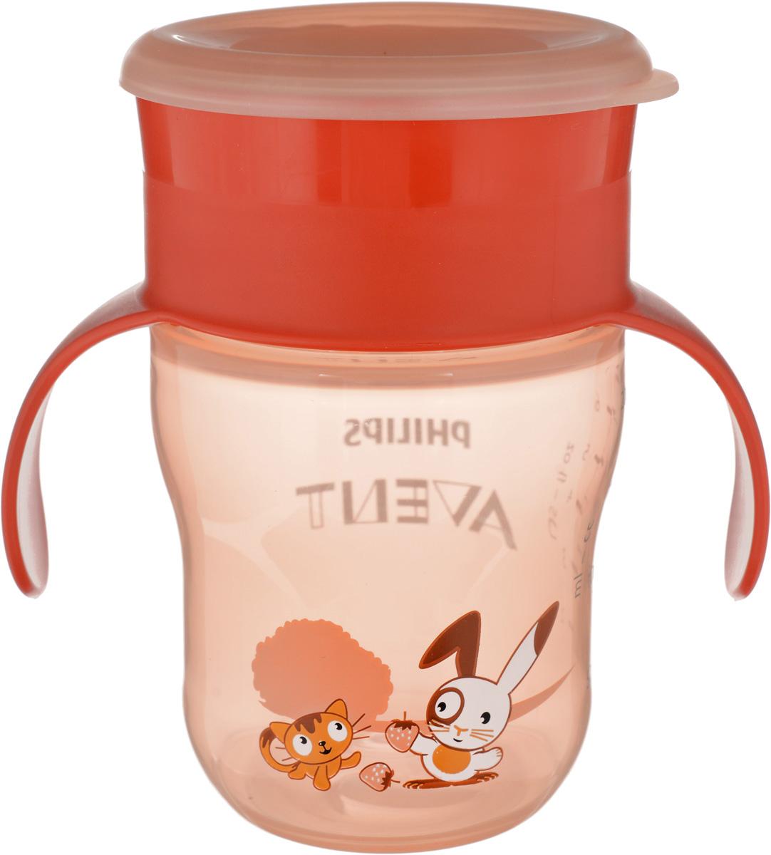 Philips Avent Чашка-поильник от 12 месяцев цвет оранжевый 260 мл контейнер avent чашка поильник с трубочкой 1 шт розовый от 9 месяцев scf798 02