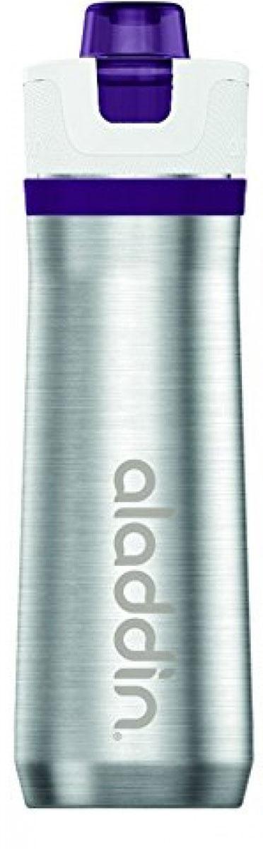 Бутылка для воды Aladdin Active, цвет: фиолетовый, 600 мл бутылка для воды sistema цвет фиолетовый 350 мл
