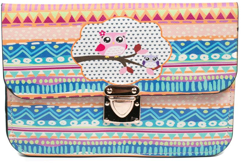 Клатч кошелек женский Mitya Veselkov цвет голубой зеленый розовый K0502 07 цена и фото