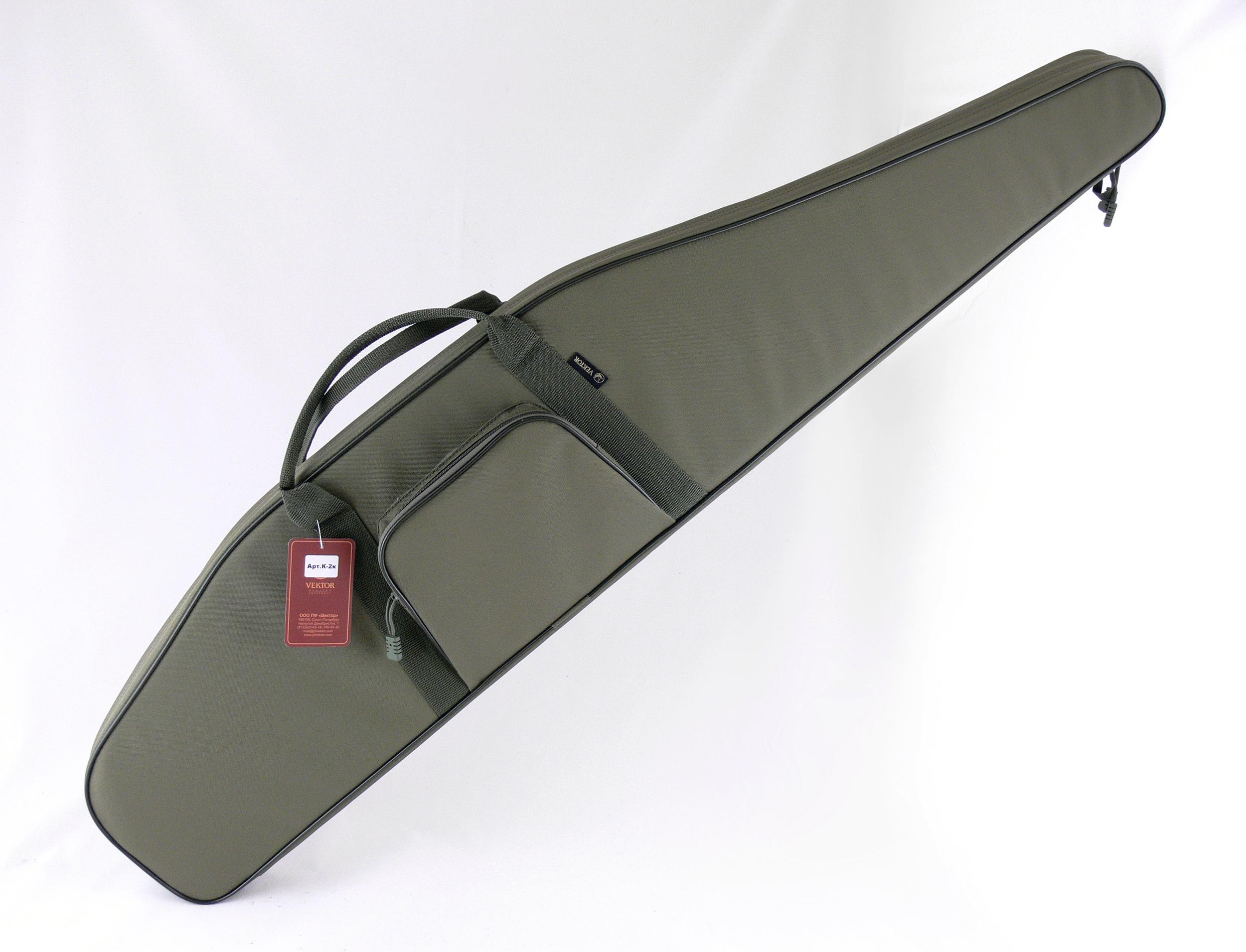 Чехол для винтовки Vektor, цвет: зеленый, с оптическим прицелом, длина 125 см. К-2к чехол для винтовки vektor цвет зеленый с оптическим прицелом длина 103 см