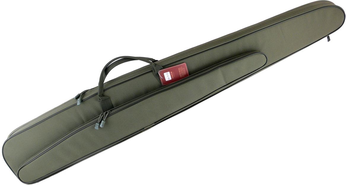 Чехол для полуавтоматического ружья Vektor, с карманом под дополнительный ствол, цвет: зеленый, длина 137 см чехол для винтовки vektor цвет зеленый с оптическим прицелом длина 103 см