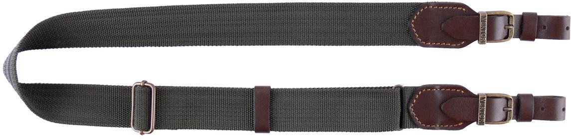 Ремень для ружья Vektor, цвет: зеленый, оливковый, коричневый, регулируемая длина, ширина 40 мм