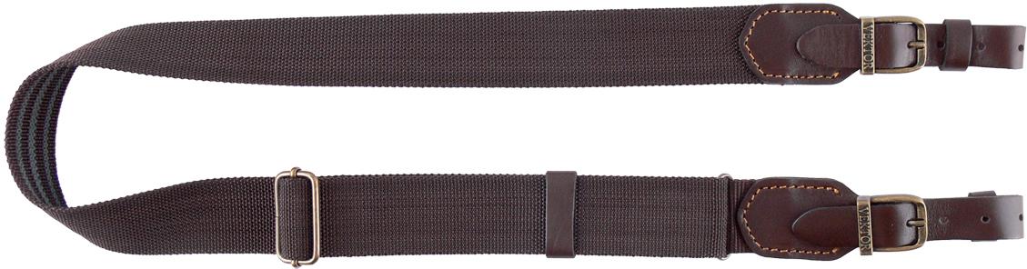 Ремень для ружья Vektor, цвет: коричневый, регулируемая длина, ширина 40 мм