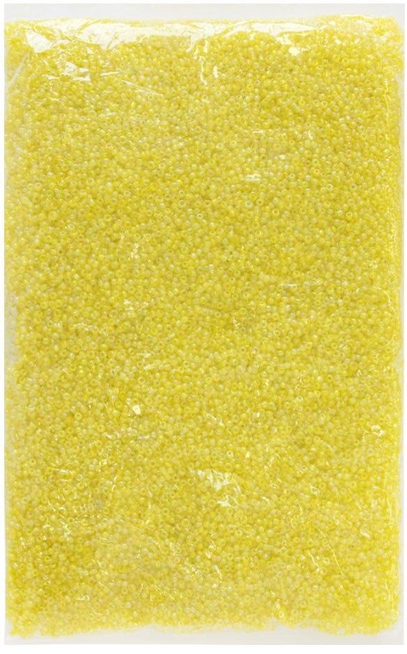"Бисер ""Астра"", прозрачный, 11/0, 500 г, цвет: желтый. 675291_10"