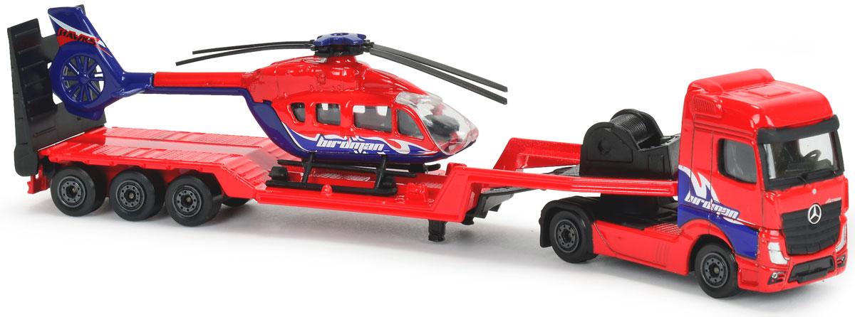 Majorette Транспортер Mersedes Actros с вертолетом