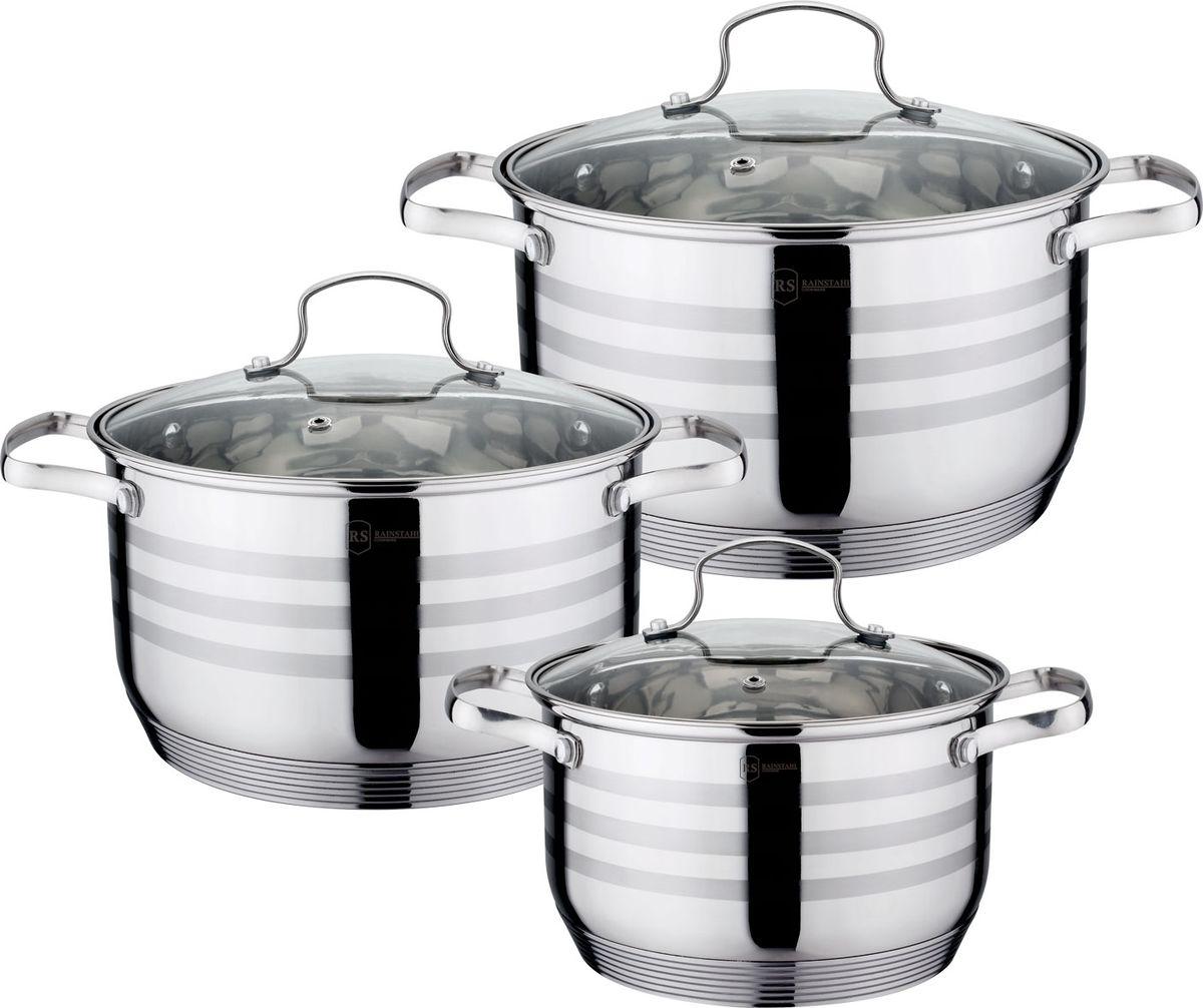 Набор посуды Rainstahl, 6 предметов. 1953-06RS/CW кастрюля maestro cast mr 4128 черный с крышкой 6 7 л