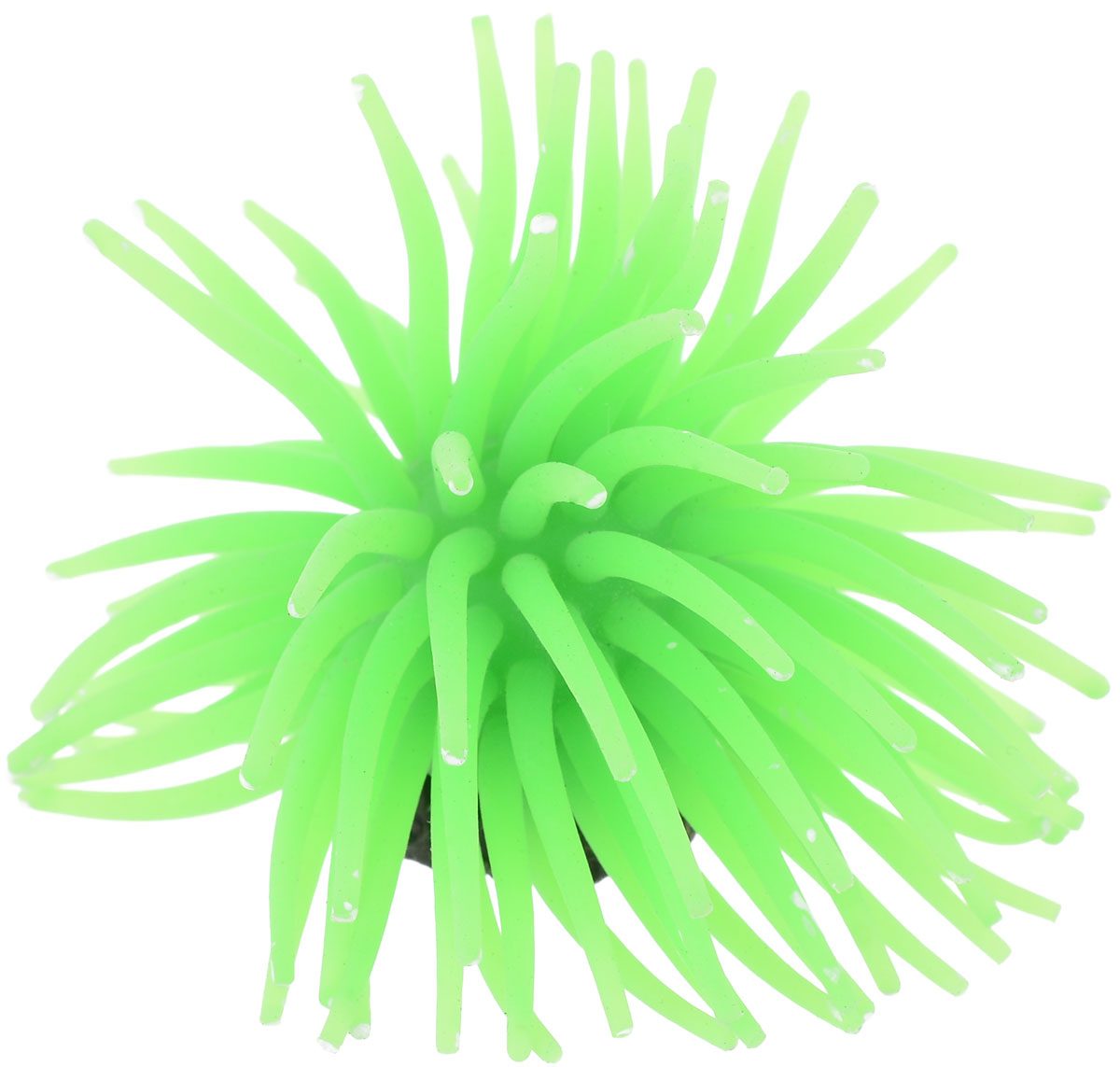 Коралл для аквариума Уют Разноцветные щупальца, силиконовый, цвет: зеленый, 8 х 8 х 7 см подстаканник сергей 11 8 х 7 8 х 7 3 см 2494361
