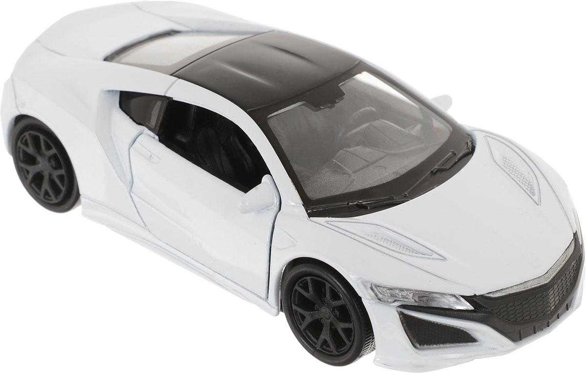 Welly Модель автомобиля Honda NSX цвет белый 4372543725_белыйКоллекционная модель машины Honda NSX от бренда Welly представляет собой миниатюрную копию автомобиля, который известен каждому истинному фанату автопрома. Машина Honda NSX, впервые сошедшая с конвейера в 1985 году, на тот момент стала настоящим прорывом в области автомобилестроения: ее корпус впервые был полностью сделан из алюминия, мощность мотора превышала все мыслимые и немыслимые показатели, а форма кузова была специально спроектирована для того, чтобы машина могла развивать максимально высокие скорости. В 2012 году миру была представлена Honda NSX второго поколения, которая и стала прототипом для создания этой коллекционной машинки. Технические характеристики машины по-прежнему оставляют далеко позади многих конкурентов, а видоизмененный кузов радует глаз и вызывает непреодолимое желание сесть за руль этой красавицы. Рекомендуем!