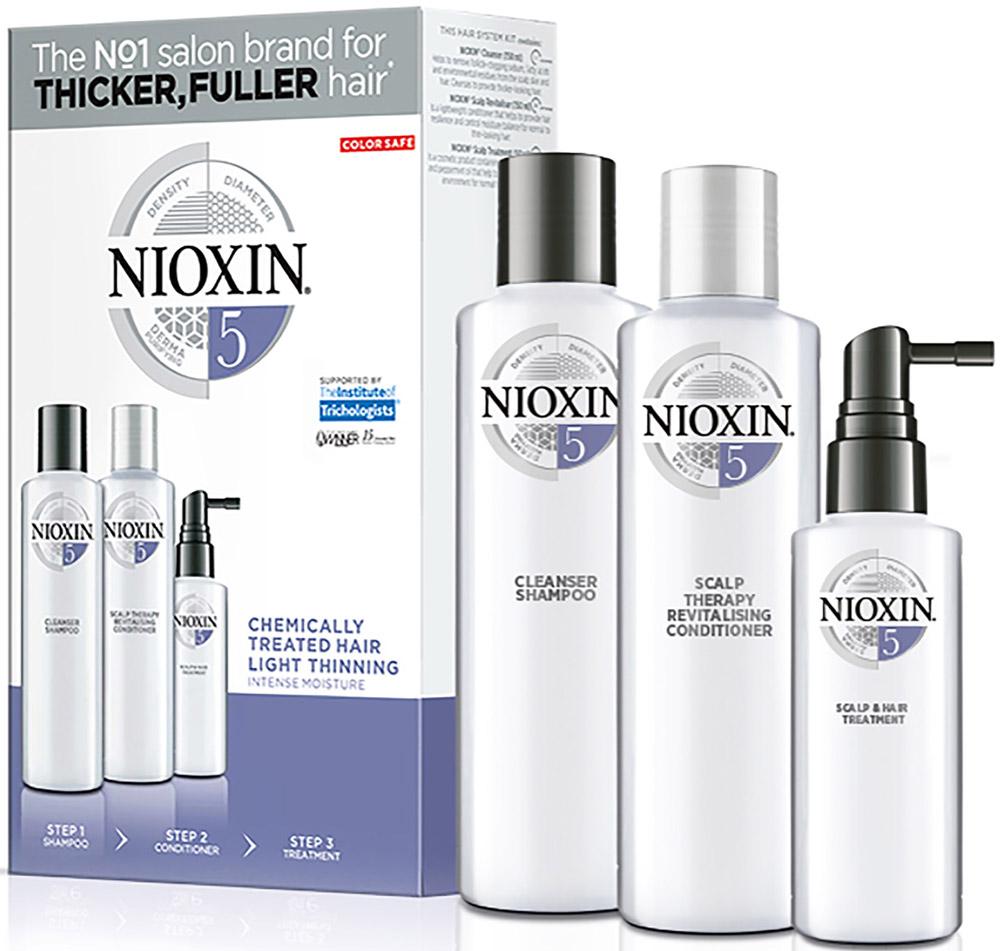 Nioxin System Набор (Система 5) 5 Kit 150 мл+150 мл+50 мл nioxin питательная маска система 3 100мл