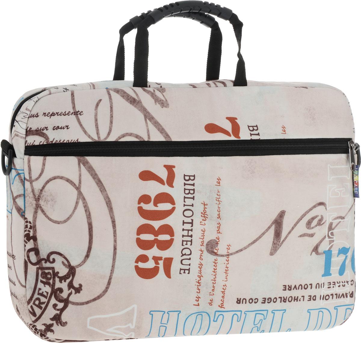 лучшая цена Vivacase Voyage, Beige Brown сумка для ноутбука 15,6