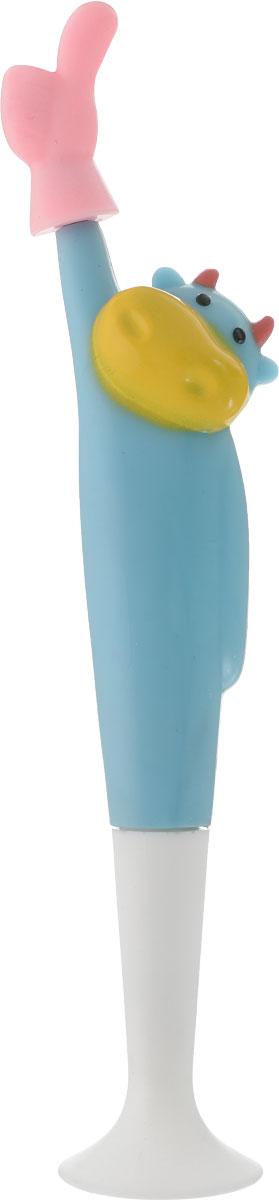 Фото - Ручка шариковая Животные. Корова на подставке цвет корпуса голубой fellowes ручка шариковая на подставке синяя цвет корпуса черный