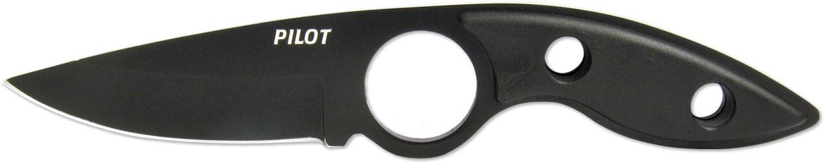Нож нескладной Ножемир Pilot, цвет: черный, длина клинка 7 см. К-101B нож охотничий ножемир казачий цвет темно коричневый длина клинка 24 1 см