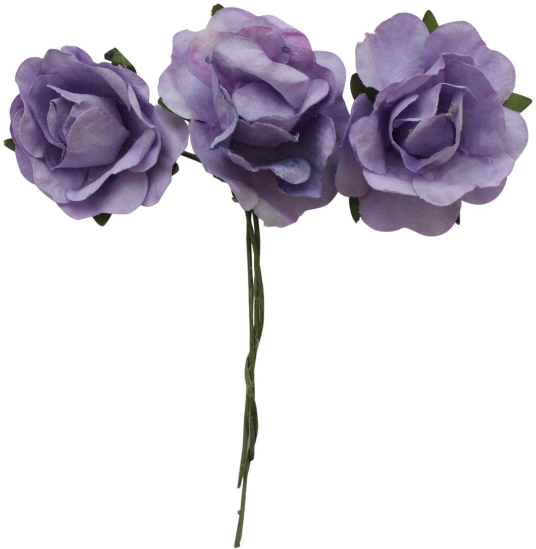 """Набор декоративных цветов """"Астра"""", цвет: сиреневый, 3 х 1,5 см, 12 шт"""