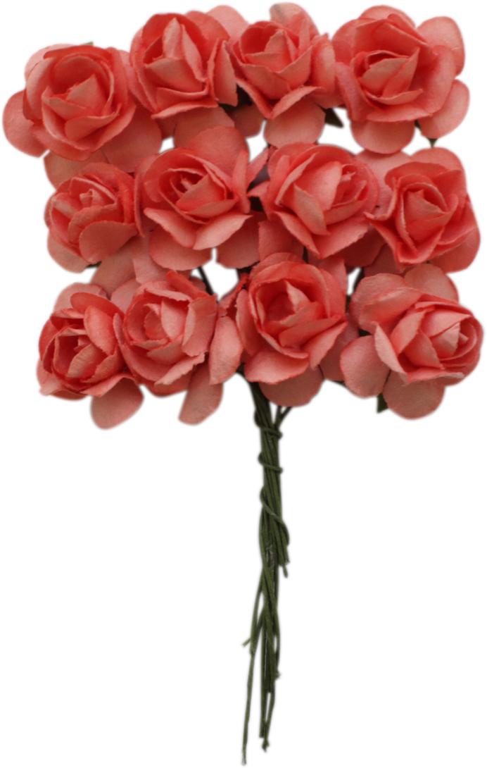Набор декоративных цветов Астра, цвет: фуксия, 2 х 2 см, 24 шт уголки металлические для скрапбукинга рукоделие 2 2 х 2 2 х 2 2 см 4 шт