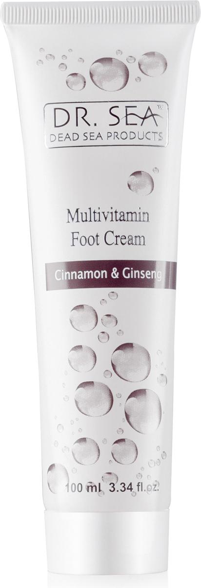 Dr.Sea Мультивитаминный крем для ног с экстрактами корицы и женьшеня, 100 мл