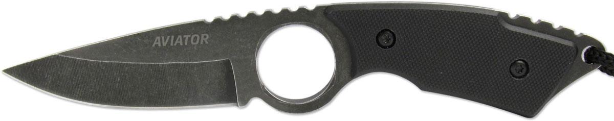 Нож туристический Ножемир Aviator, цвет: черный, длина клинка 7,8 см. K-102BBS нож нескладной ножемир кардинал с ножнами длина клинка 15 1 см