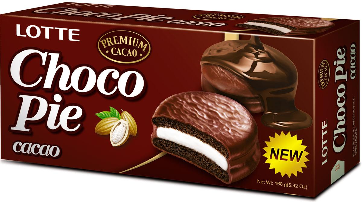 Lotte Choco Pie какао печенье прослоенное глазированное, 168 г цена