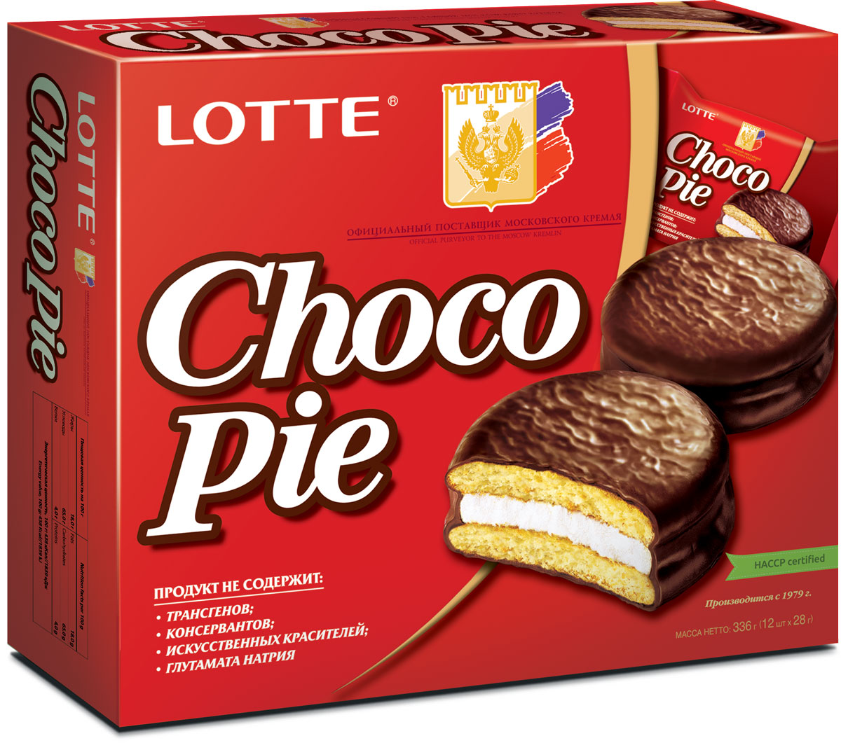 Lotte Choco Pie печенье прослоенное глазированное, 336 г