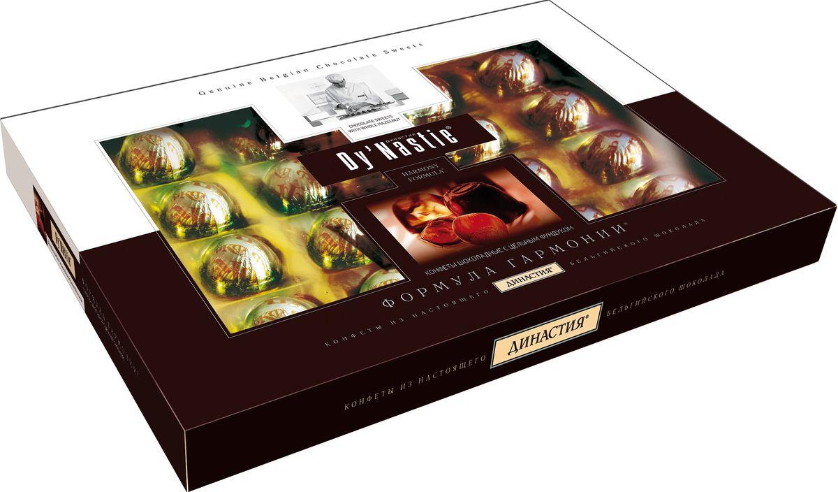 династия ананасы в шампанском шоколадные конфеты 195 г Династия Формула гармонии с цельным фундуком шоколадные конфеты, 180 г