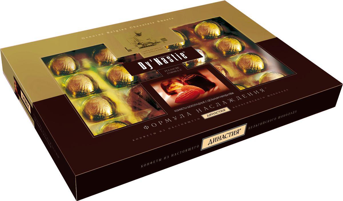династия ананасы в шампанском шоколадные конфеты 195 г Династия Формула наслаждения с миндалем шоколадные конфеты, 180 г