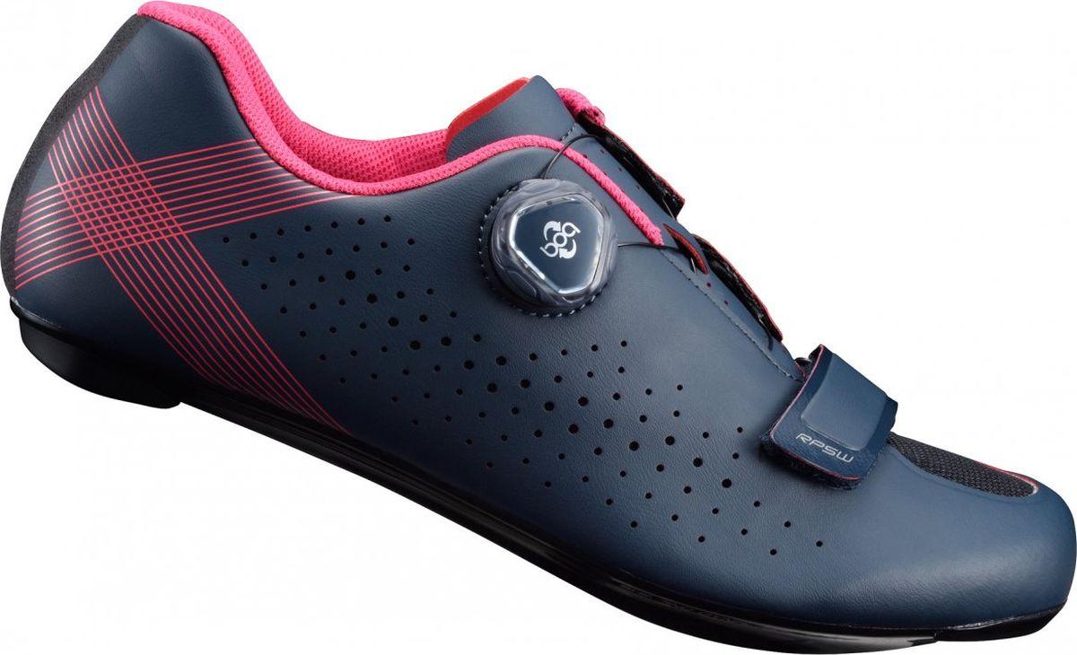 """Велотуфли женские Shimano """"SH-RP501W"""", цвет: темно-синий. Размер 37"""