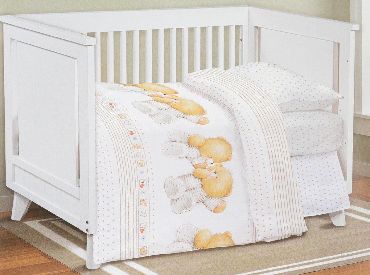 цена Forever Friends Комплект детского постельного белья Близнецы цвет белый 3 предмета онлайн в 2017 году