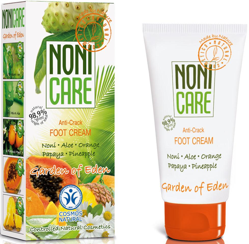 Nonicare Крем для ног Garden Of Eden - Anti-Crack, 50 мл5903240869978Нежный крем с высокой концентрацией натуральных масел, ланолина и экстрактов растений превосходно ухаживает за кожей ног. Обладает противомикробным и антибактериальным действием. Сок фрукта нони, входящий в состав крема, содержит витаминно - минеральный комплекс, способствующий ежедневному поддержанию кожного иммунитета. Обеспечивает быстрое заживление ран и трещин, является настоящим спасением для сухой, потрескавшейся кожи ног! Экстракт папайи и ананаса способствует процессу обновления клеток, устраняет шелушение и огрубение, прекрасно питает, смягчает кожу ног. Ромашка обеспечивает дезинфицирующий и противовоспалительный эффект. Имеет сертификат Международного стандарта качества органической косметики Cosmos Natural.