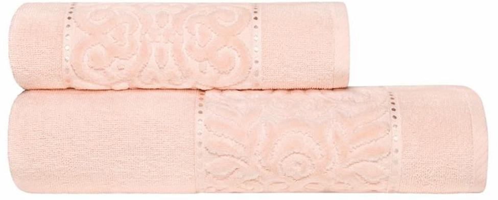 """Набор банных полотенец Estia """"Алисия"""", цвет: розовый, 2 шт"""