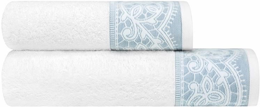Набор банных полотенец Estia Инносенто, цвет: белый, серый, 2 шт комплект из 2 махровых банных полотенец из биохлопка