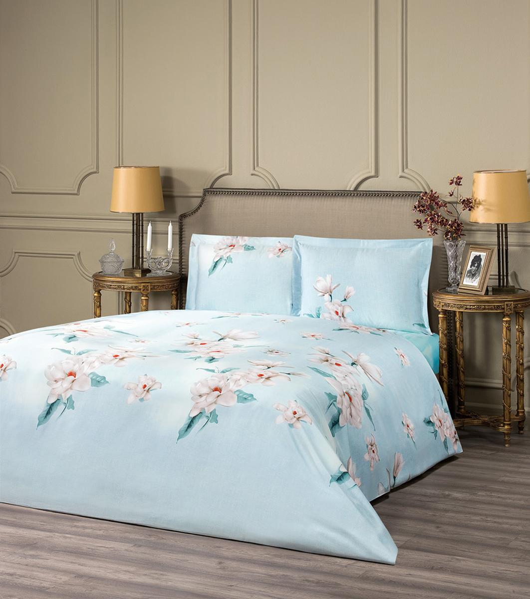 """Комплект белья Estia """"Мессина"""", 1,5-спальный, наволочки 50x70, цвет: голубой"""