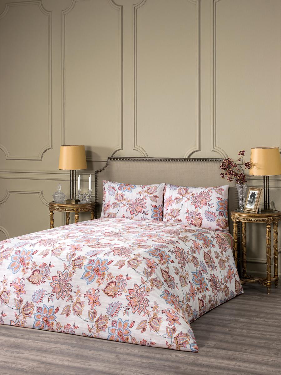 """Комплект белья Estia """"Рим"""", 1,5-спальный, наволочки 50x70, цвет: розовый"""