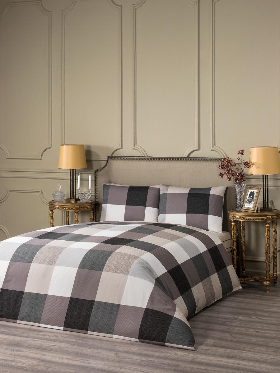 """Комплект белья Estia """"Фабриано"""", 1,5-спальный, наволочки 50x70, цвет: светло-серый"""