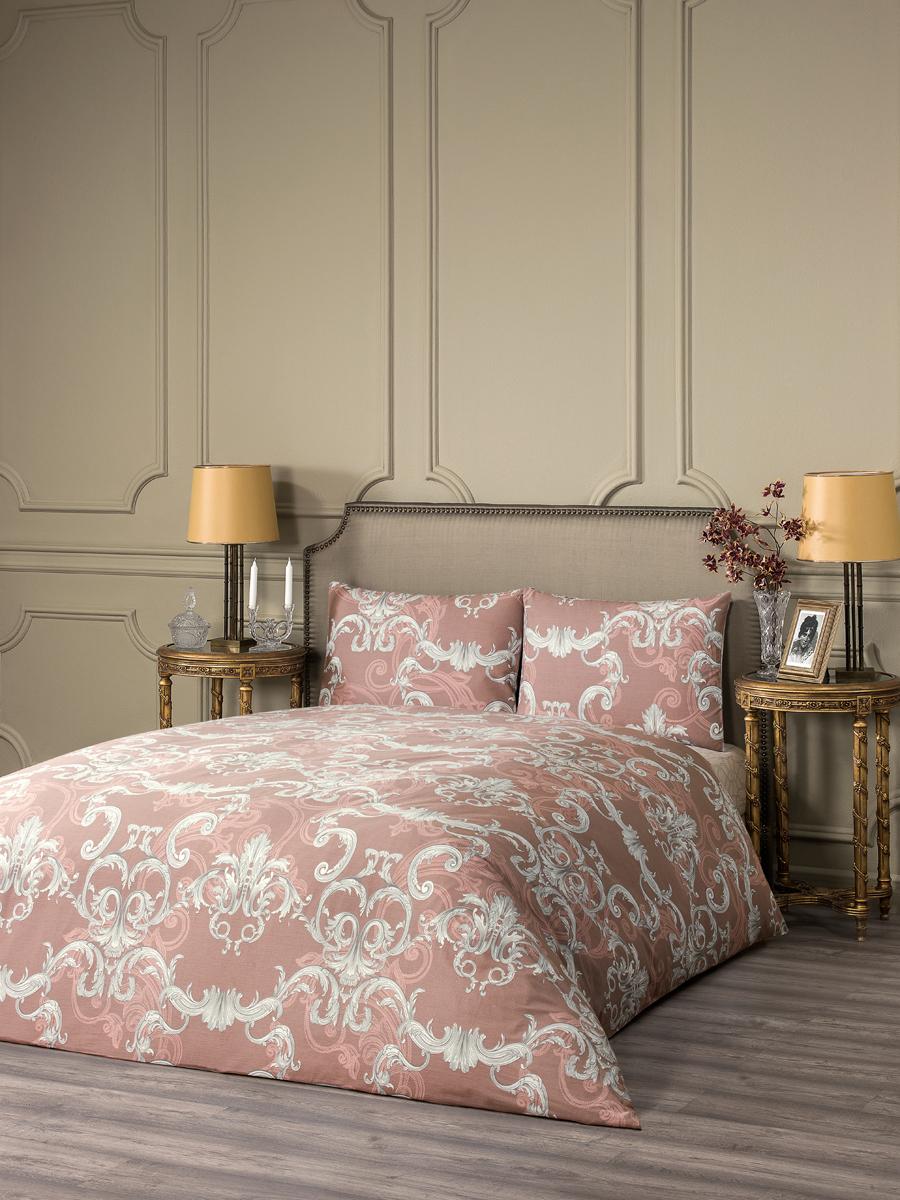 """Комплект белья Estia """"Беллано"""", 1,5-спальный, наволочки 50x70, цвет: коричневый"""