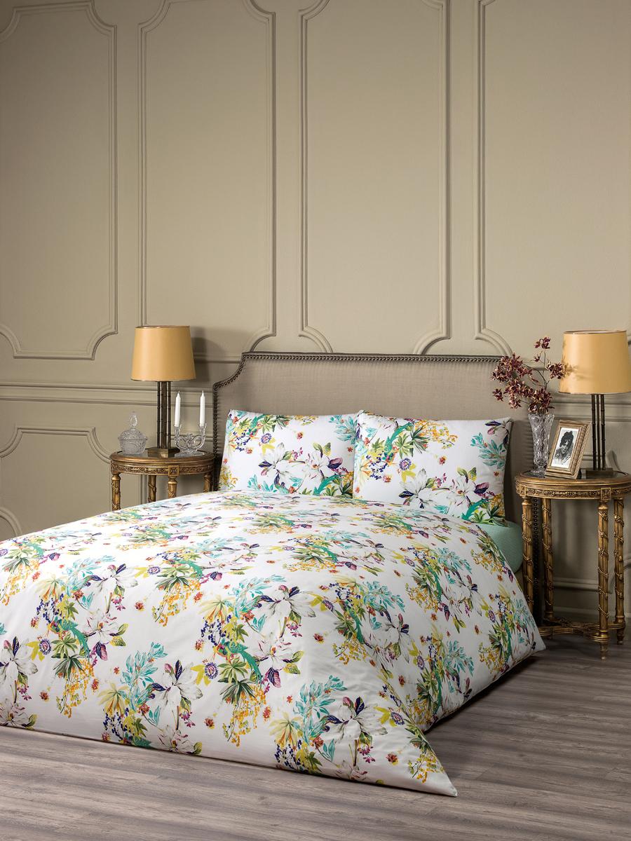 """Комплект белья Estia """"Авиано"""", 1,5-спальный, наволочки 50x70, цвет: белый"""