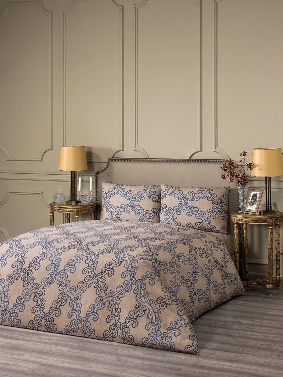 """Комплект белья Estia """"Генуя"""", 1,5-спальный, наволочки 50x70, цвет: экрю"""