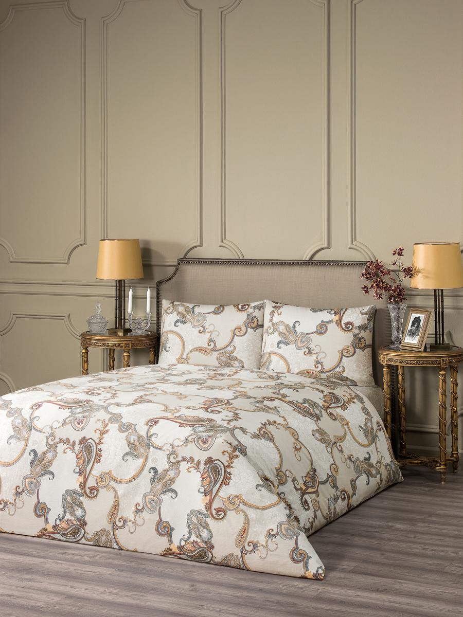 """Комплект белья Estia """"Авола"""", 1,5-спальный, наволочки 50x70, цвет: белый"""