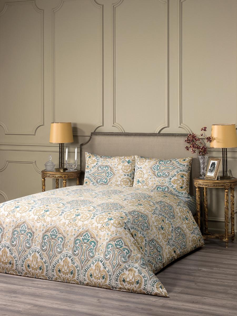 """Комплект белья Estia """"Маринелла"""", 1,5-спальный, наволочки 50x70, цвет: голубой"""