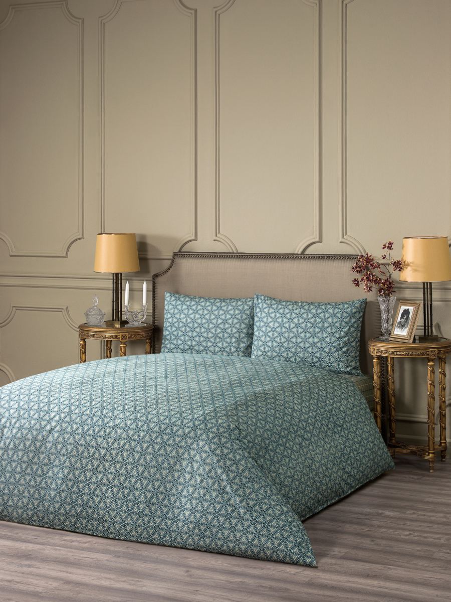 """Комплект белья Estia """"Эмполи"""", 1,5-спальный, наволочки 50x70, цвет: серый"""