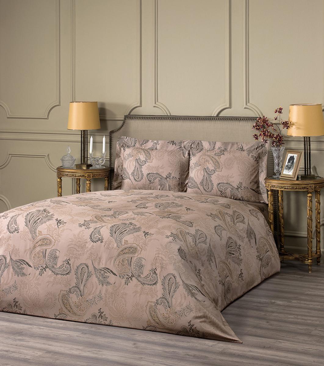 """Комплект белья Estia """"Пьетра"""", 1,5-спальный, наволочки 50x70, цвет: коричневый"""
