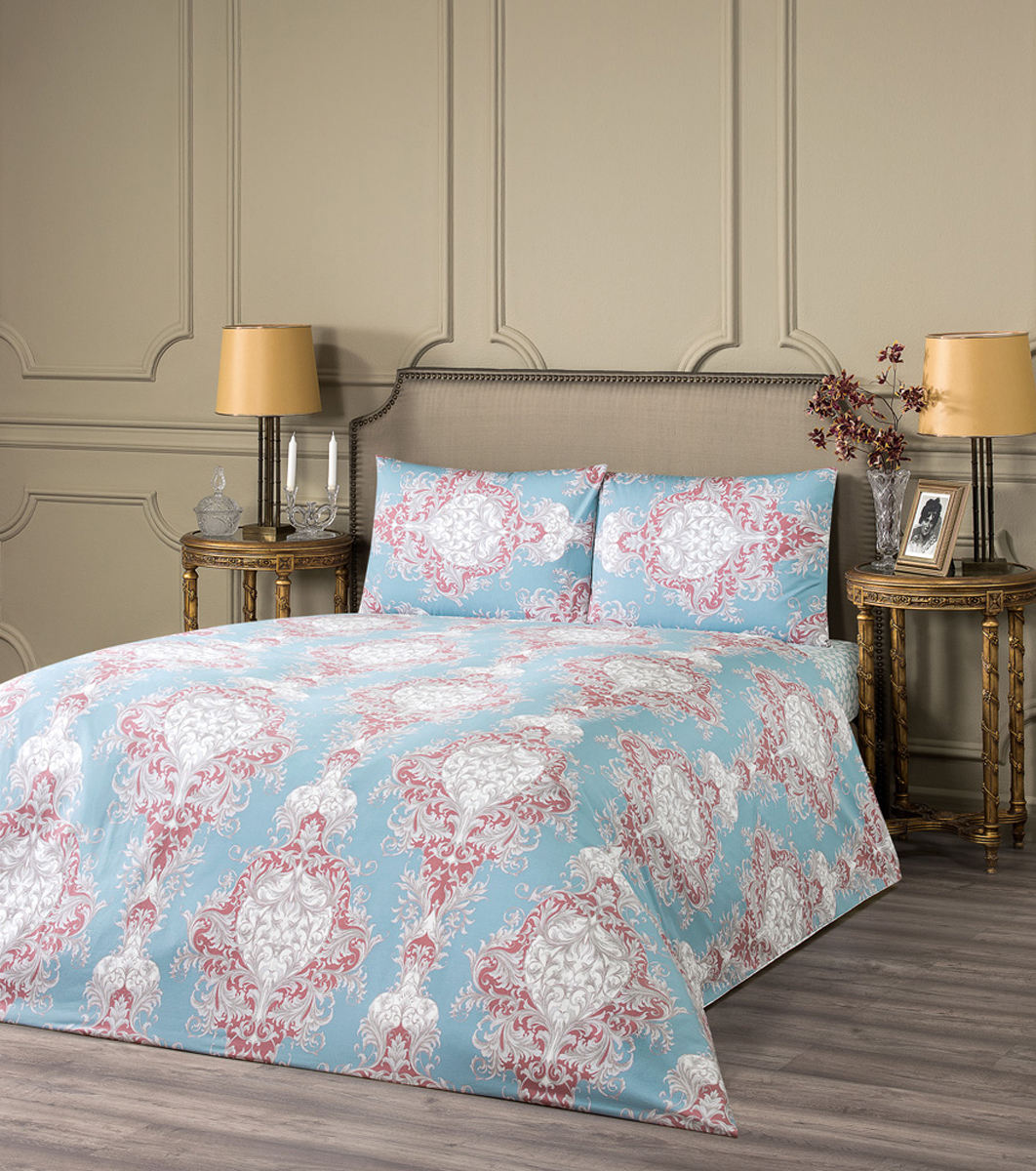 """Комплект белья Estia """"Равелло"""", 1,5-спальный, наволочки 50x70, цвет: голубой"""