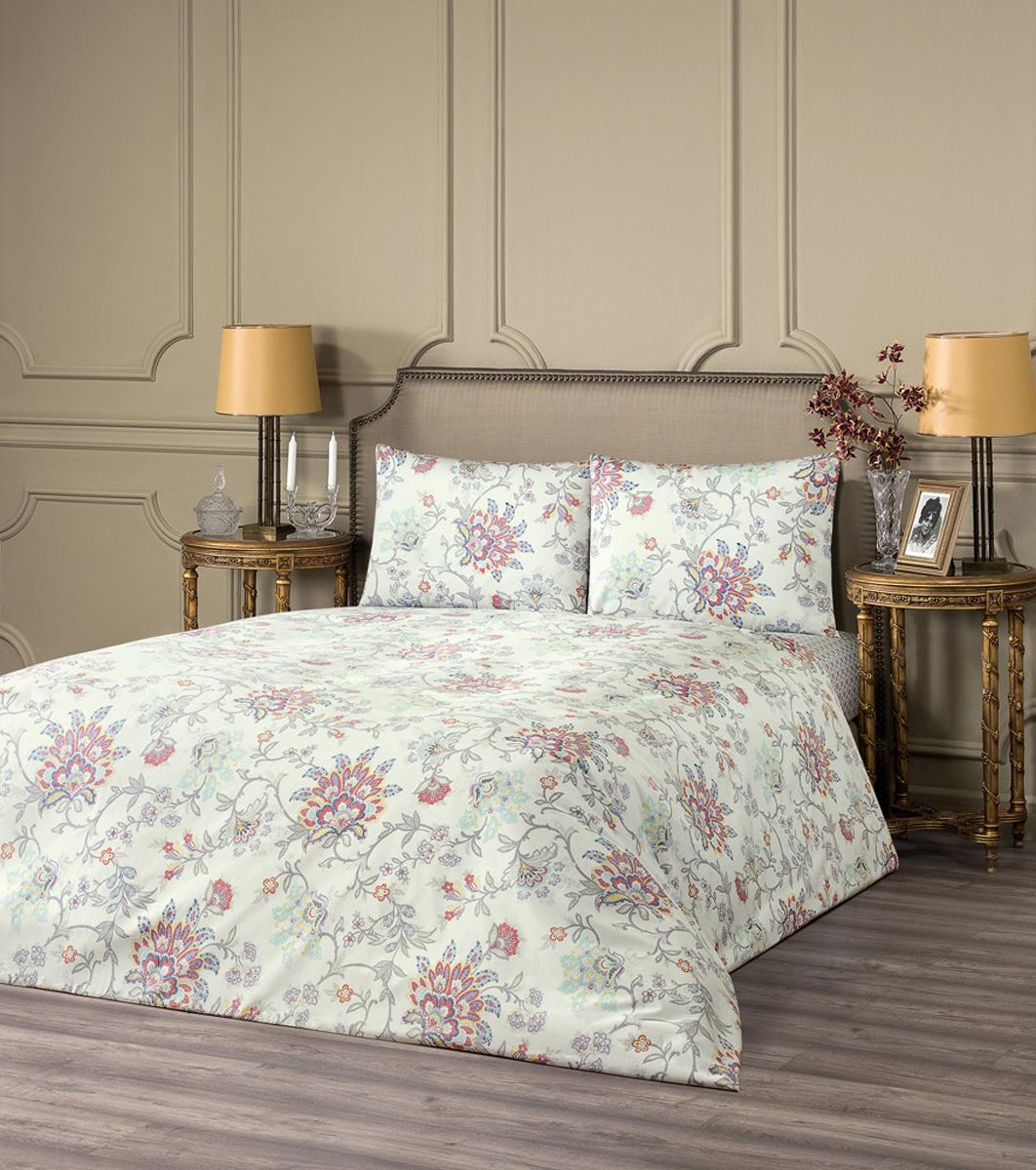 """Комплект белья Estia """"Мартелло"""", 1,5-спальный, наволочки 50x70, цвет: светло-красный"""