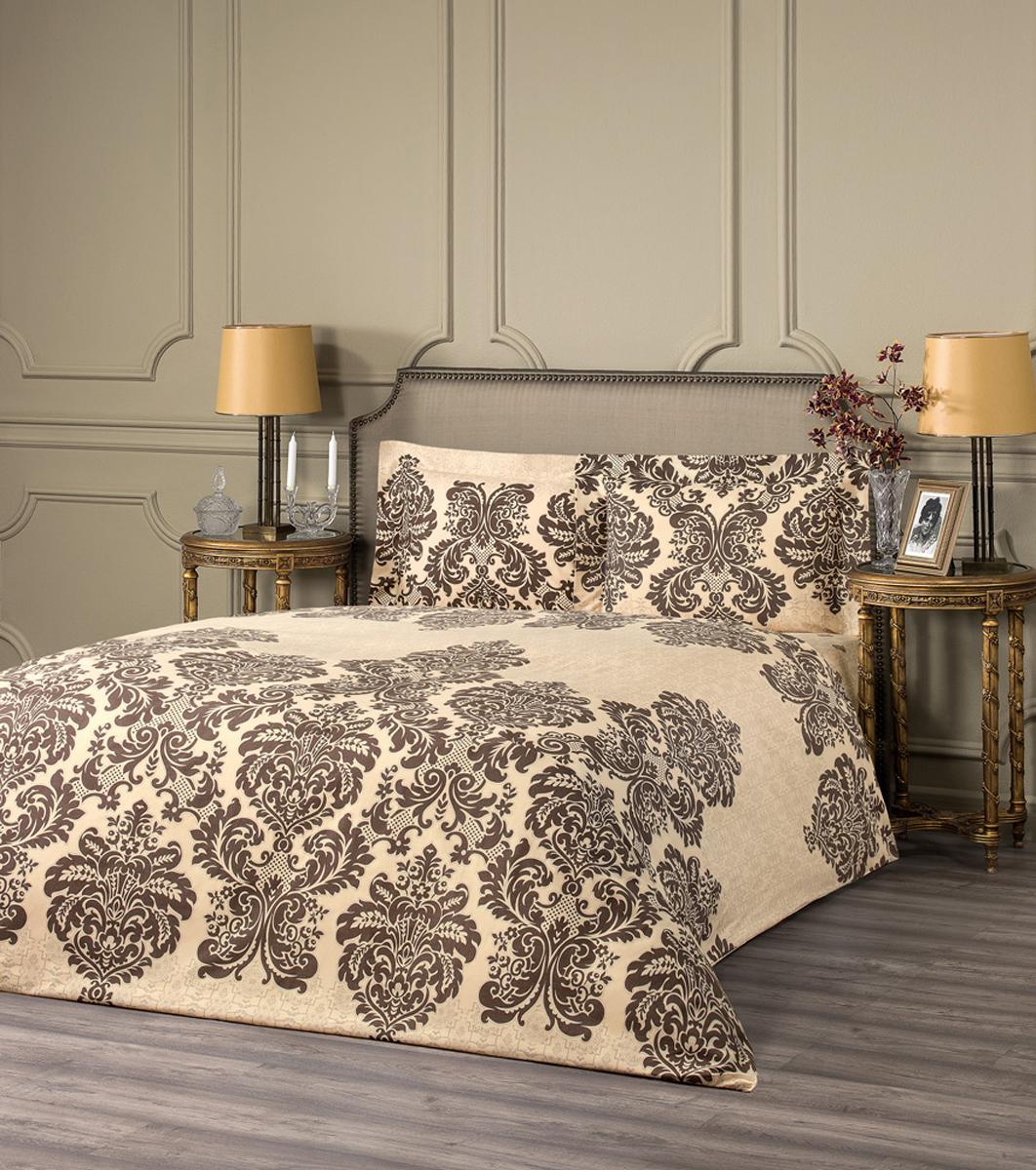 """Комплект белья Estia """"Монреале"""", 1,5-спальный, наволочки 50x70, цвет: бежевый"""