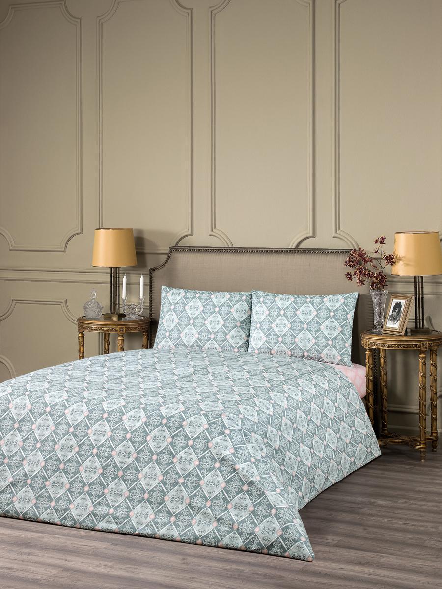 """Комплект белья Estia """"Винчи"""", 1,5-спальный, наволочки 50x70, цвет: серый"""