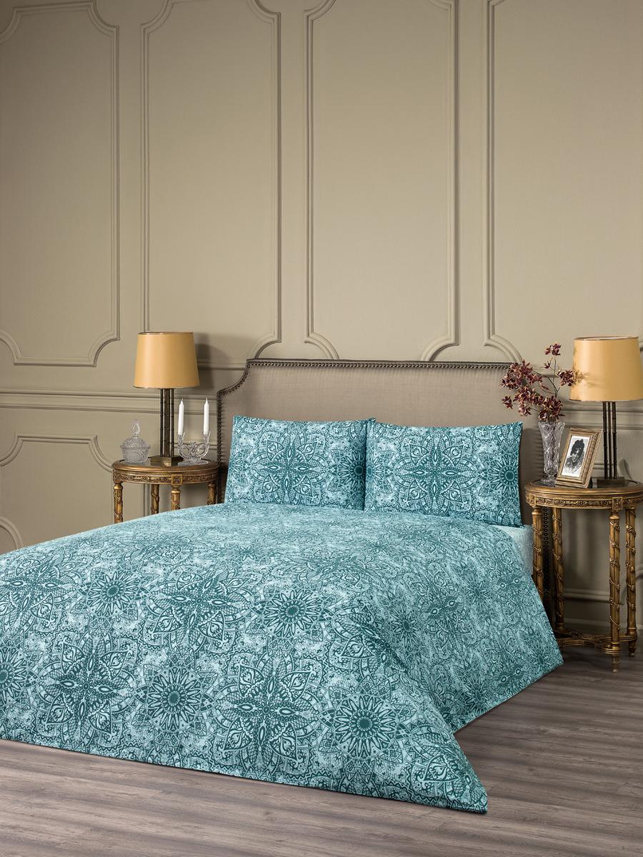"""Комплект белья Estia """"Реджелло"""", 1,5-спальный, наволочки 50x70, цвет: синий"""