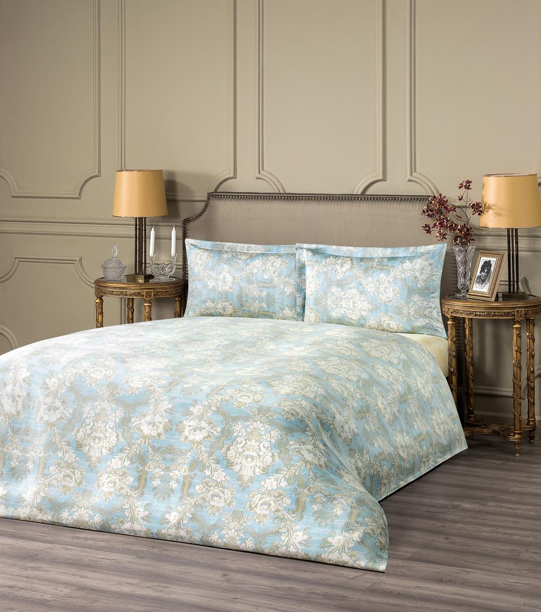 """Комплект белья Estia """"Гордения"""", 1,5-спальный, наволочки 50x70, цвет: голубой"""