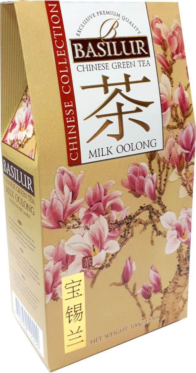 Basilur Milk Oolong чай зеленый листовой молочный улун, 100 г цена и фото