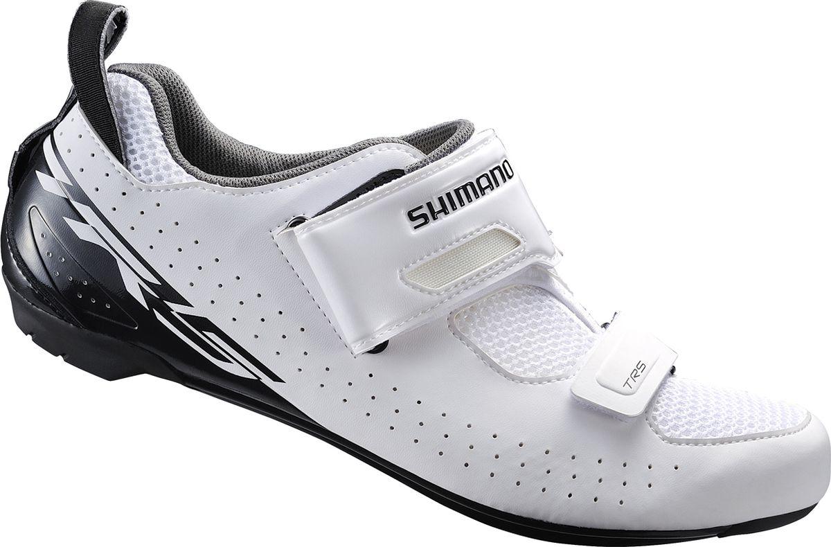 Велотуфли мужские Shimano SH-TR500, цвет: белый. Размер 37 аксессуар защитное стекло для xiaomi mi a2 mi6x zibelino tg full screen 0 33mm 2 5d white ztg fs xmi mi6x wht